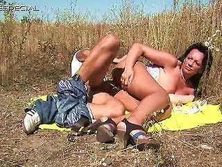 Horny Milf Gets Fucked Hard Outdoor Part6