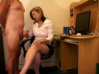 British MILF Loves Giving Handjobs